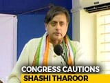 "Video : Congress Cautions Shashi Tharoor Amid Row Over ""Hindu Pakistan"" Comment"