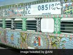 मिथिला आर्ट पेंटिंग से सजी बिहार संपर्क क्रांति एक्स्प्रेस पहुंची दिल्ली, देखें ट्रेन की खूबसूरत तस्वीरें
