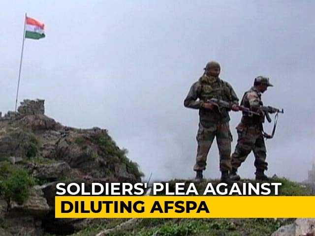 "Video : Soldiers Challenge ""Dilution"" Of AFSPA In Top Court, Say No Police Probe"