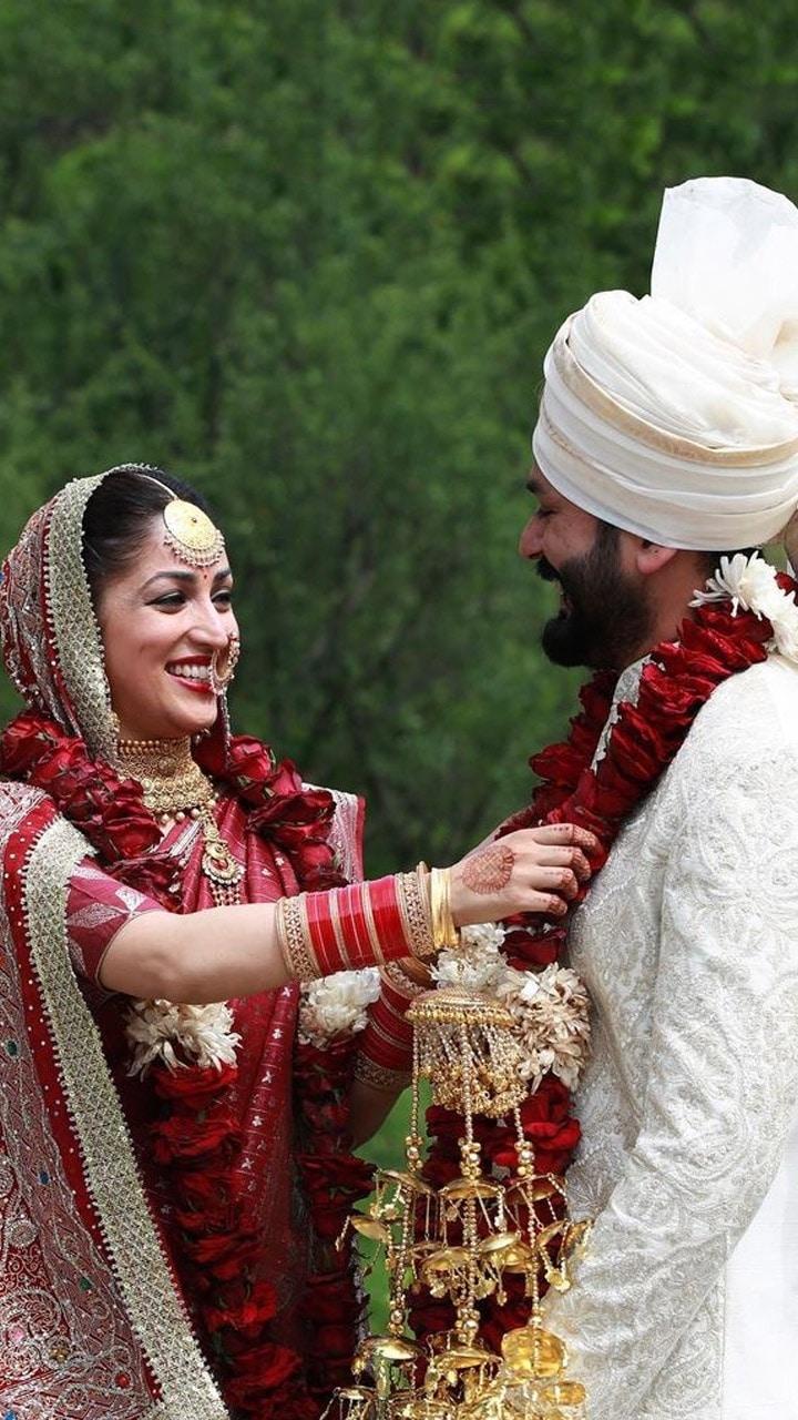 Yami Gautam and Aditya Dhar at their wedding