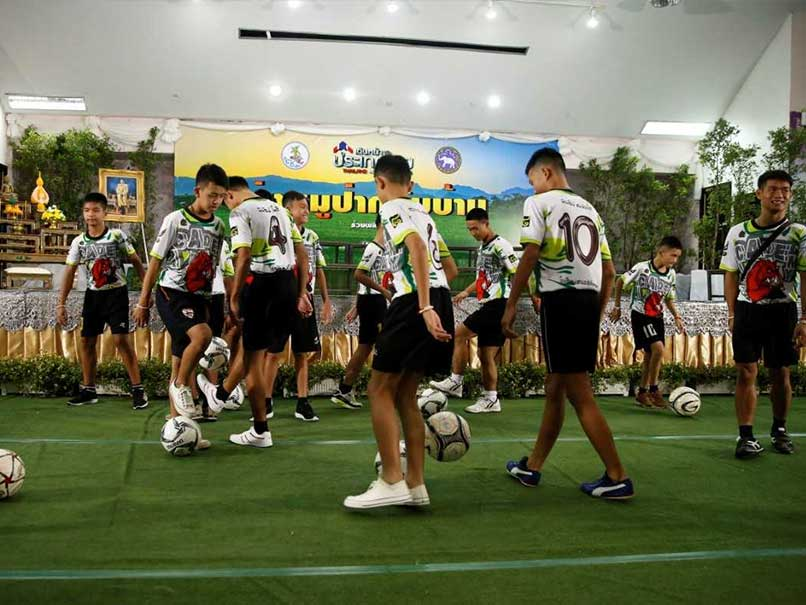 Rescued Thai Boys Showcase Their Football Skills In First Appearance After Episode