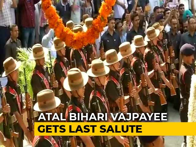 Video : Atal Bihari Vajpayee Gets Last Salute