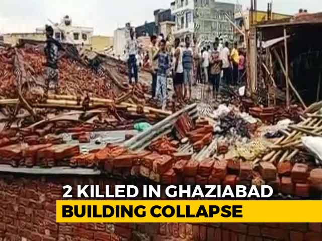 Video : Two Dead As 5-Storey-Building Collapses In Ghaziabad Near Delhi