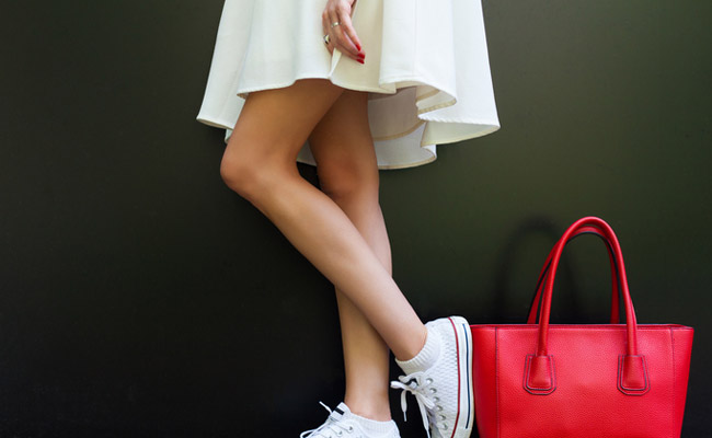 Move Over Heels, Pairing Sneakers With Dresses Is The New Way To Make A Statement