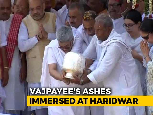 Video : After Haridwar Immersion, Lucknow Cavalcade Planned For Vajpayee's Ashes