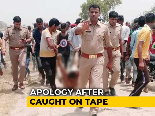 Video : UP Police Apologise After Man Beaten By Mob Dragged In Their Presence