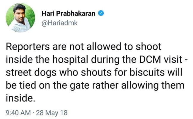 hari prabhakaran tweet