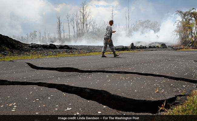 Earth Cracked Open, Walls Of Lava, That's Life On Hawaiian Volcano