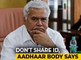 Video : Don't Share ID, Aadhaar Body Advises After Telecom Regulator's Challenge
