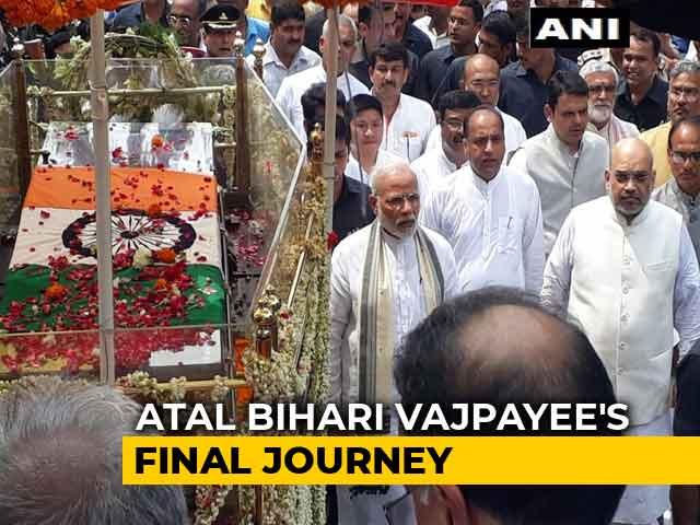 Video : PM Modi Walks Entire Duration Of Atal Bihari Vajpayee's Funeral Procession