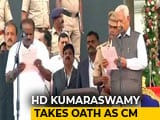 Video : Kumaraswamy Takes Oath Amid Opposition Show Of Unity In Karnataka