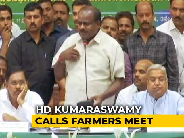 Video : No Cabinet Yet. But HD Kumaraswamy Has To Deal With Farmers And Floods