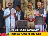 Video: Kumaraswamy Takes Oath Amid Opposition Show Of Unity In Karnataka