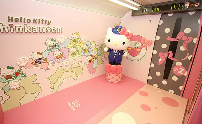 hello kitty bullet train life size doll afp