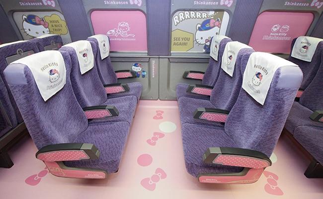hello kitty bullet train seats afp