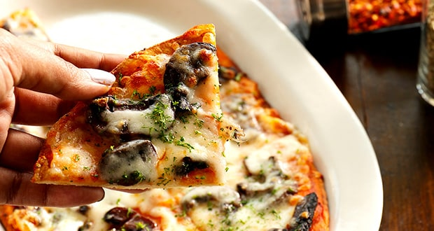 Red Wine Braised Mushroom Flatbread