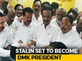 Video : MK Stalin Files Nomination Papers For DMK President Post