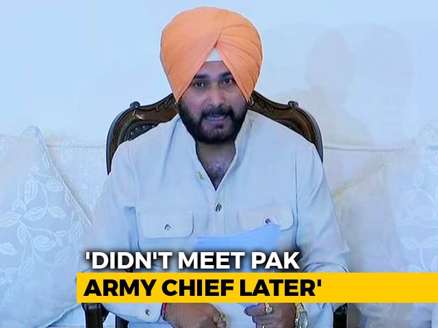 "Video : ""He Talked About Peace"": Navjot Sidhu On Row Over Hugging Pak Army Chief"