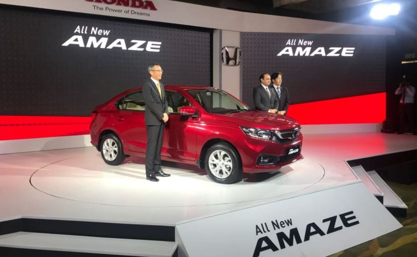 New 2018 Honda Amaze Launched In India Prices Start At Rs 5 59 Lakh