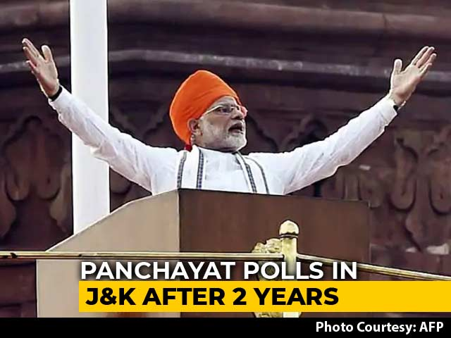 Video : PM Modi Announces Panchayat Polls In J&K In Independence Day Speech