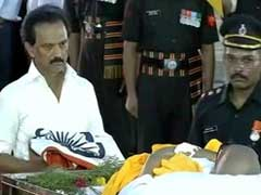 MK Stalin Leads Tributes To Karunanidhi At Burial Site