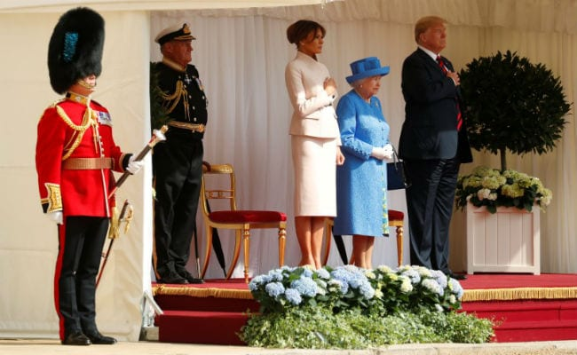 Donald Trump Meets Queen Elizabeth At Windsor Castle