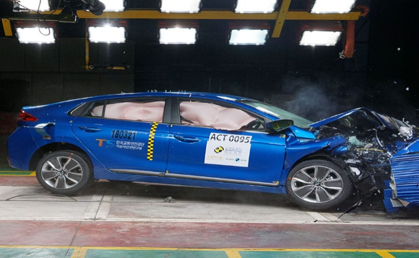The Ioniq Hybrid is the fifth Hyundai car to be tested by ASEAN NCAP