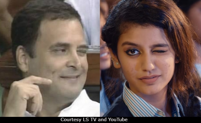 Unsurprisingly Rahul Gandhi S Viral Wink Reminds Twitter Of Priya
