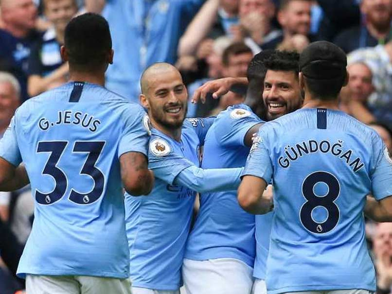 Aguero Bags Treble As Rampant Manchester City Hit Huddersfield For Six