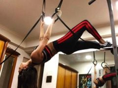 Sushmita Sen Takes Her Fitness Game To New Heights With Gymnastic Rings