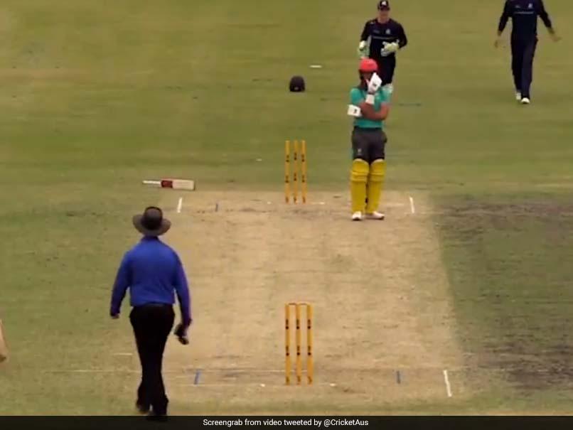 Australian Batsman Left Embarrassed By Bizarre Hit Wicket Dismissal . Watch Video