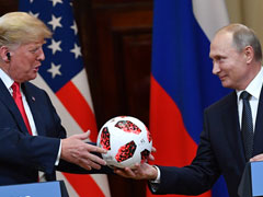 """Ball's In Your Court"": Putin Tries To Lighten Mood At Meet With Trump"