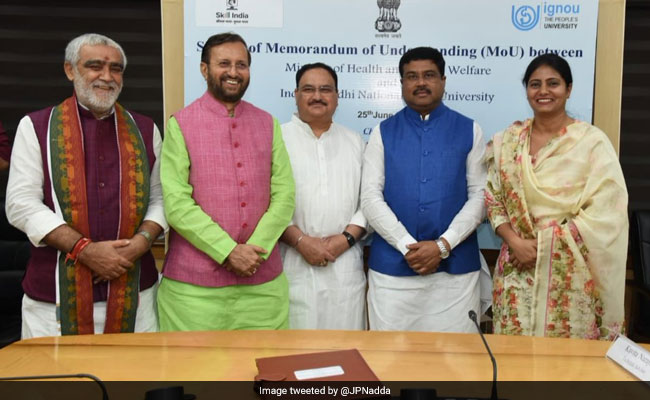 Health Ministry Inks MoU With IGNOU To Scale-Up Healthcare Courses