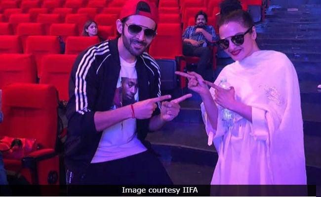 IIFA Awards 2018: Inside Rekha And Kartik Aaryan's Fun-Filled Rehearsal