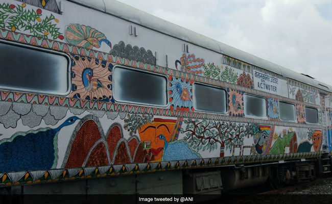 9 Coaches Of Bihar Sampark Kranti Express Painted With Maithili Art