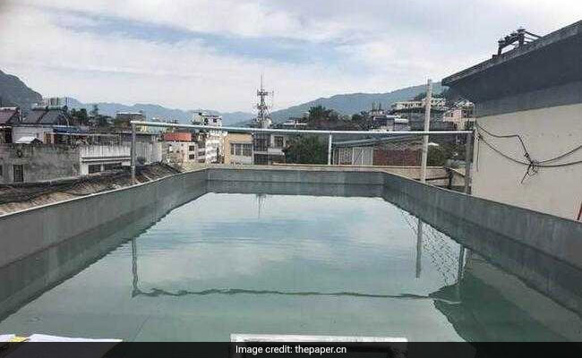 Man Builds Himself Metre-Deep Pool On High-Rise Roof, Wanted To Stay Fit