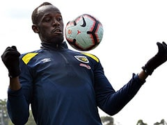 Nervous Usain Bolt Prepares For Football Debut