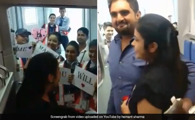 Indore: Man Proposes To Girlfriend On IndiGo Flight Minutes Before Takeoff