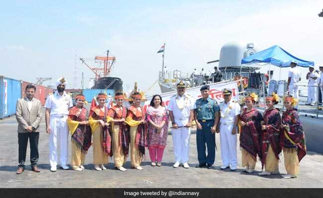 Indian Navy Ship 'INS Kulish' Reaches Indonesia