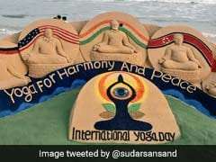 Sudarsan Pattnaik's Sand Art Celebrates International Yoga Day 2018