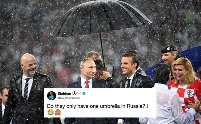Vladimir Putin's Umbrella Steals The Show At World Cup Final