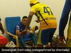 IPL 2018: जीत के बाद ब्रावो ने किया धोनी के लिए डांस, शरमाते हुए देखते रहे