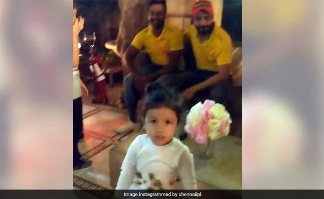 IPL 2018: रैना की बेटी की बर्थडे पार्टी में किया जीवा ने डांस, देखें VIDEO