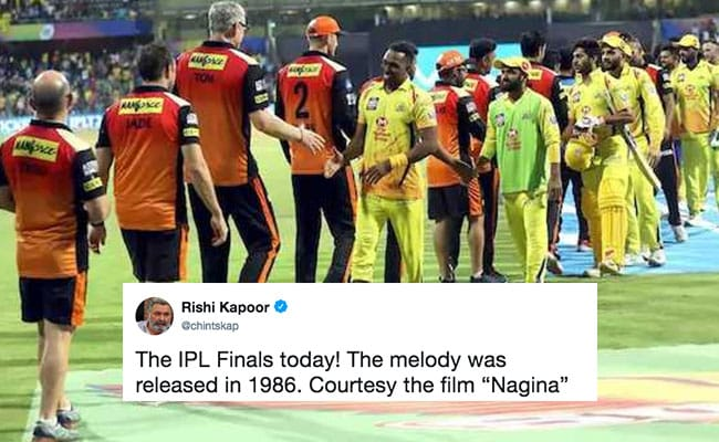 Rishi Kapoor Tweets Funny Take On IPL Final Today. Ready To LOL?