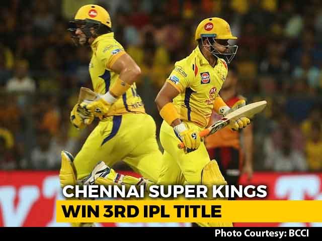 CSK Clinch IPL 2018 Title As Shane Watson Blows Away SRH