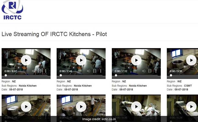 IRCTC Live Streams From Kitchens After Food Scares