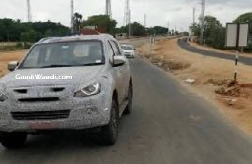 2019 Isuzu Mu X Facelift Spied Testing In India For The First Time