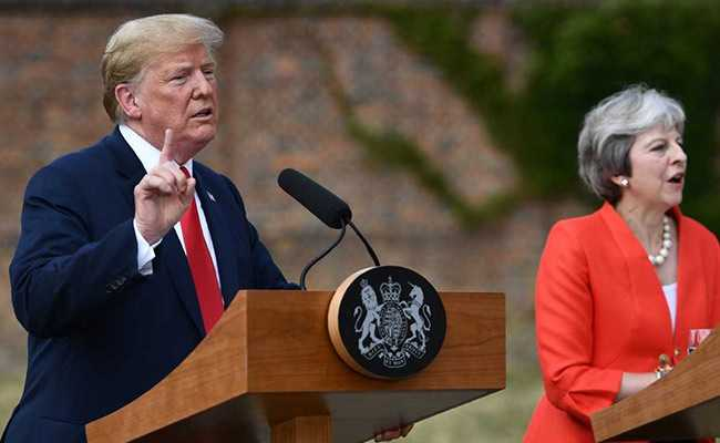 After Berating His British Hosts, Trump Lauds May In Bid To Ease Tensions