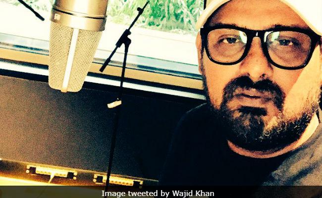 Composer Wajid Khan Isn't In Hospital, Tweets Pic From Studio