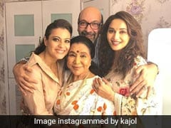 When Madhuri Dixit And Kajol Turned 'Mushy Paparazzi' For Asha Bhosle